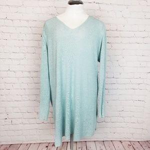 Eileen Fisher|Blue Linen Light Tunic